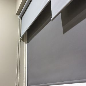 Persiana Cozumel gris con perfiles
